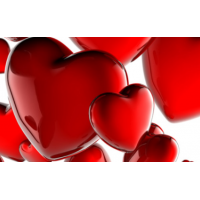 Wenskaart gelukspoppetje rood hartje