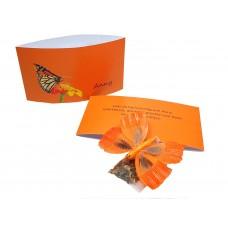 Bedankje vlinderbloemenzaadjes